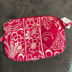2/$20💚Vera Bradley Make Up Bag pink and white NWT